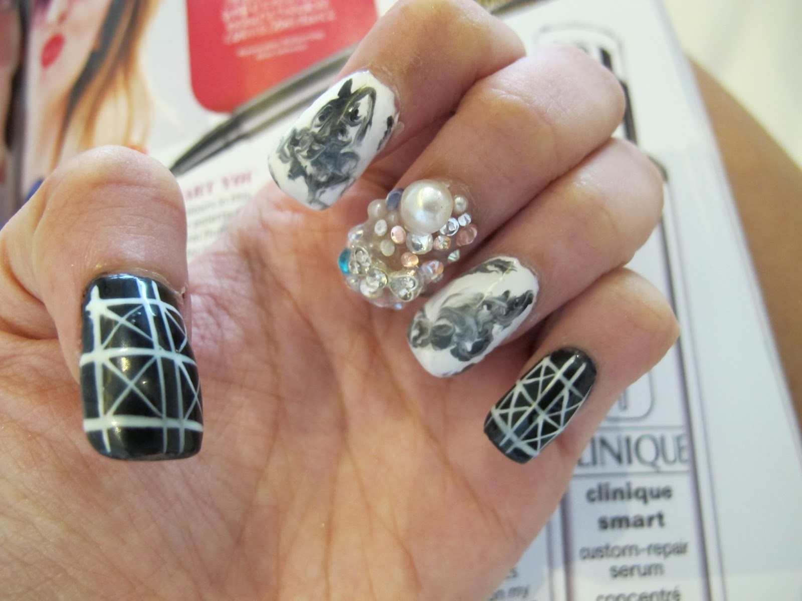 theperfectmonologue: StageLook Nails: MONOCHROME!