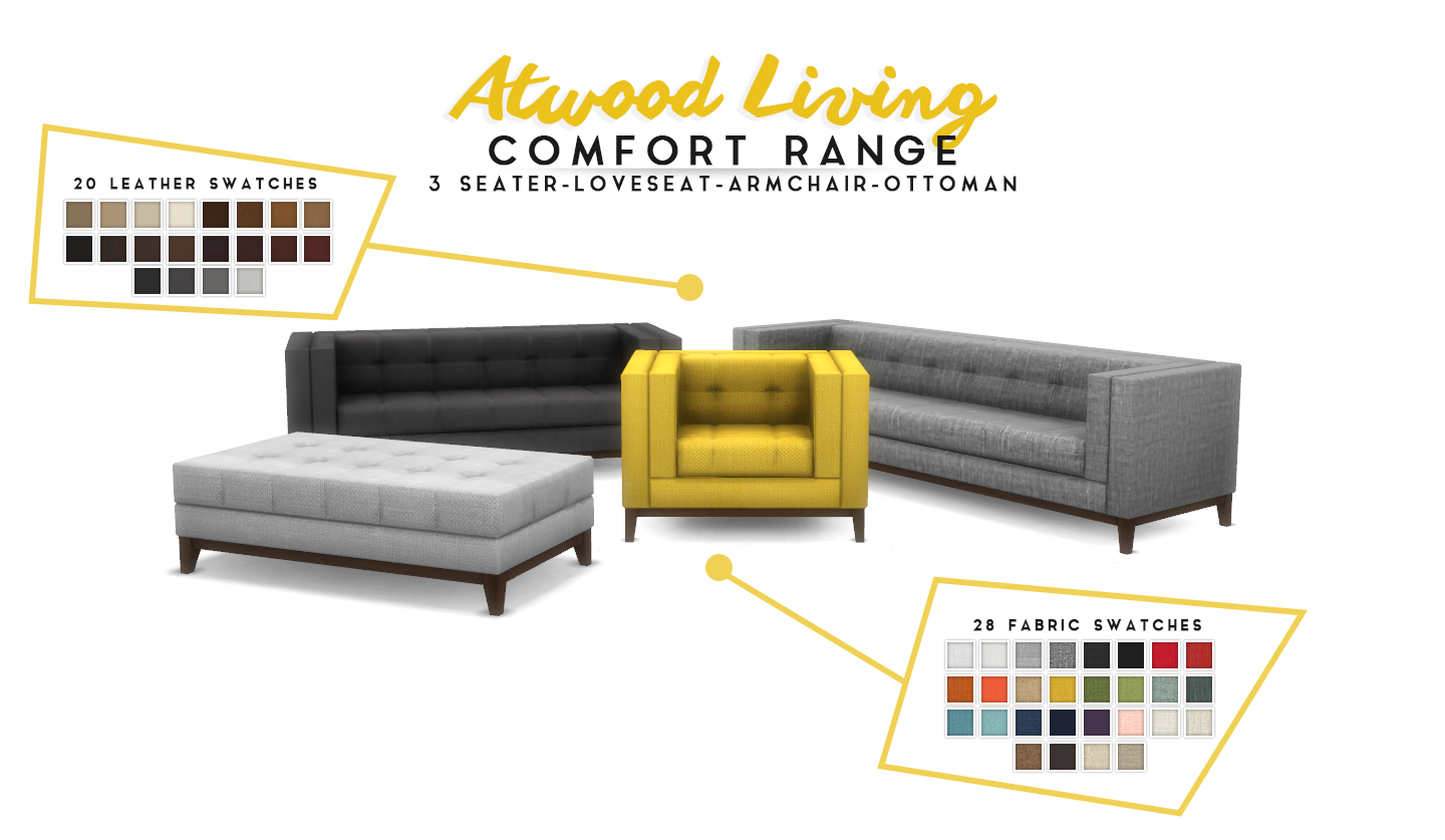 Simsational Designs Updated Atwood Living Lounge Room
