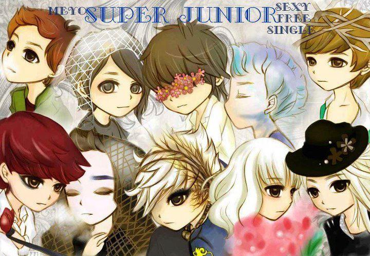 Super Junior And Anime Mix