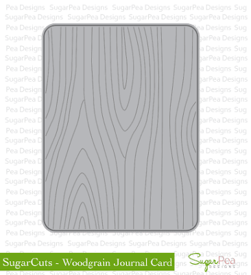 SugarCuts Woodgrain Journal Card