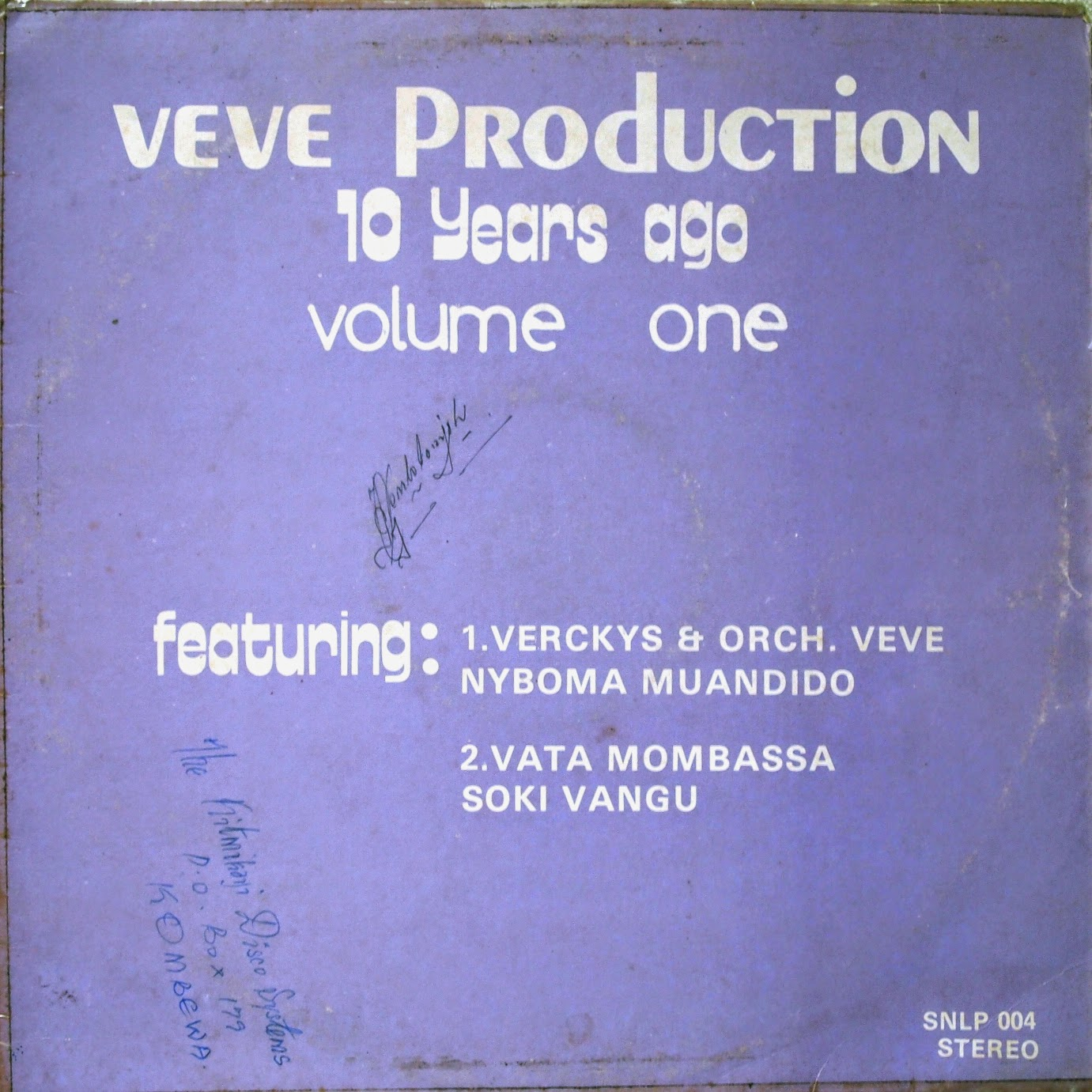 Veve Productions 10 Years Ago Volume 1