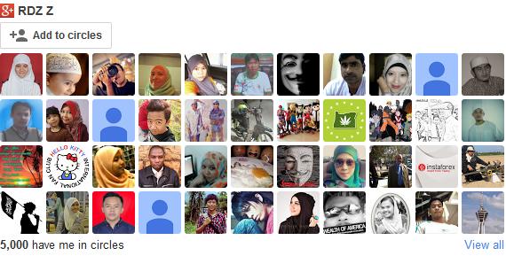 Rakan Google Plus Blog Santai Yang Ke 5000