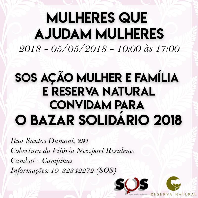 Bazar Solidário 2018