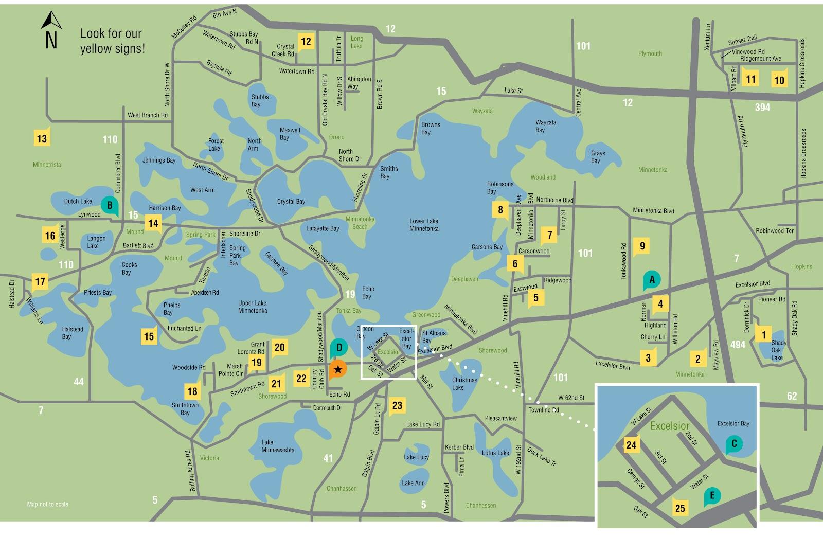 Popular 183 List Lake Minnetonka Map
