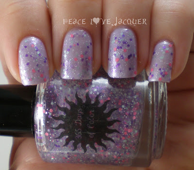 365 Days of Color, 365doc, Jellybean There Done That, Glitter, Top Coat, purple, aqua, pink, matte, glitter, micro, white, purple, pink, shimmer