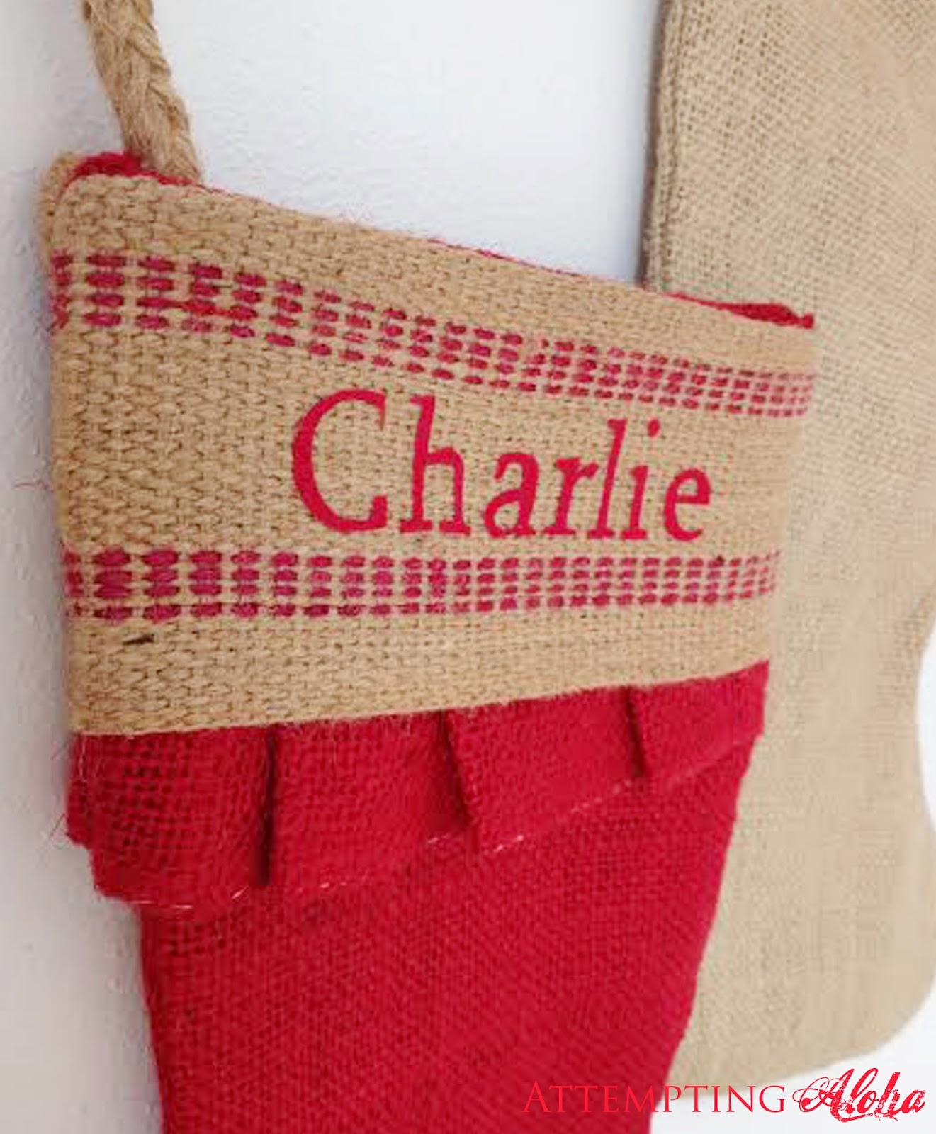 attempting aloha personalized burlap stockings i was able to fit all 6 family members and the dog on one 12x15 sheet of flock vinyl an excellent 5 25 investment if i might say