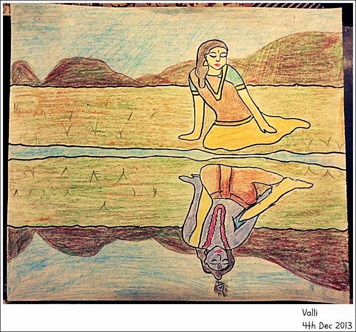 Radha Krishna Reflection