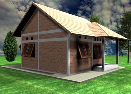 sketsa rumah sederhana yang unik