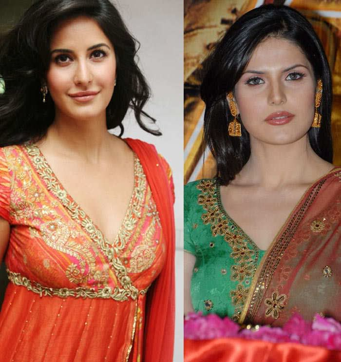 zarine khan and katrin...