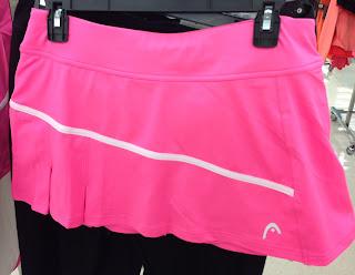 Style Athletics Pink Head Tennis Skirt