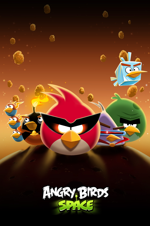 HD Angry Birds Space Wallpaper for iPhone