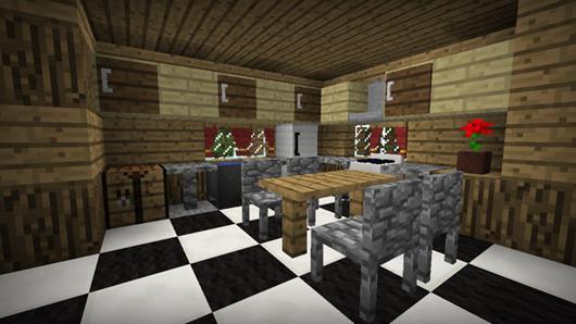 Sala De Estar Minecraft ~  de mobiliário para decorar o seu quarto, cozinha, sala de estar e