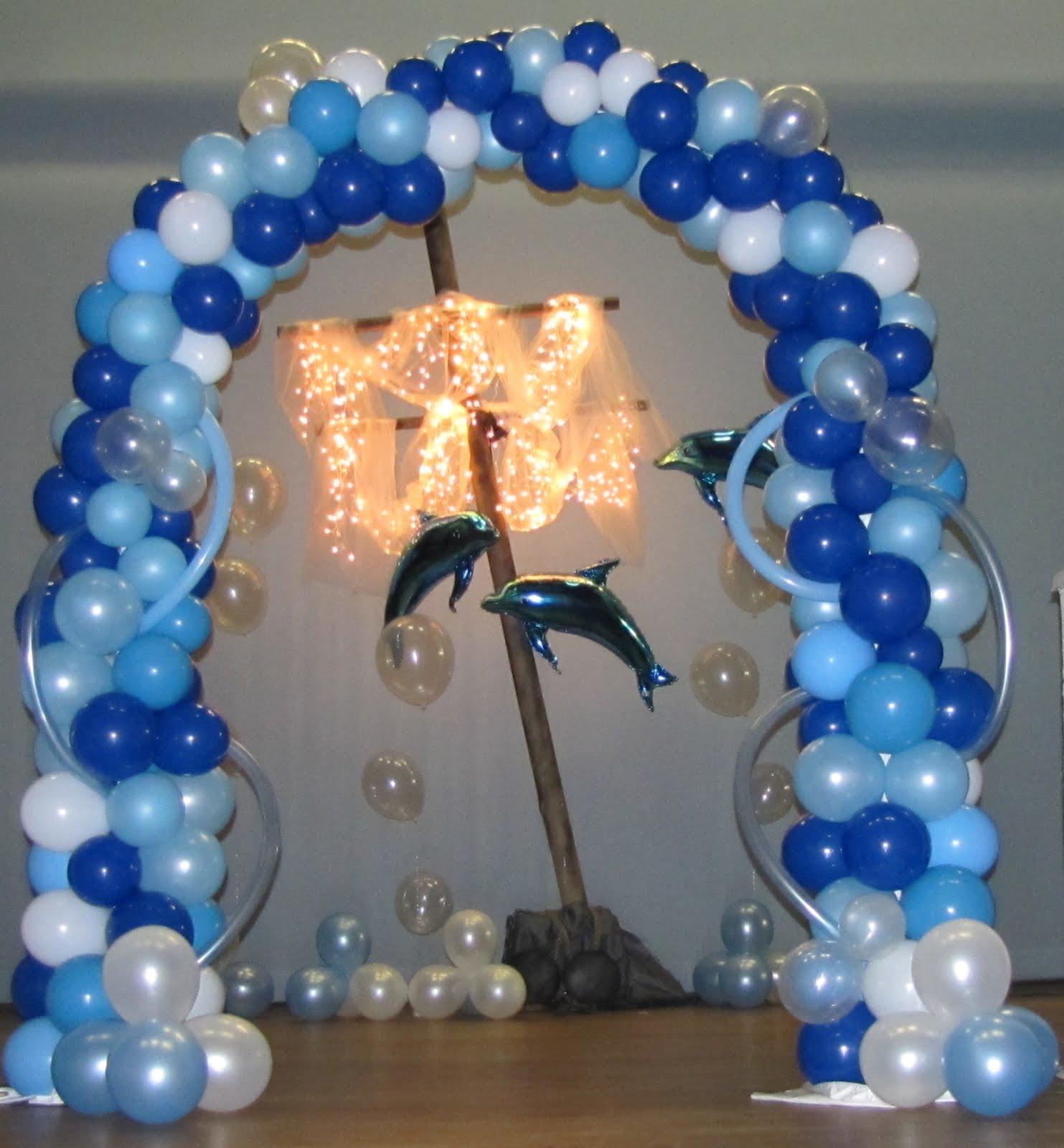 Sports Themed Balloon Decor Under The Sea Quinceanera Under The Sea Tropical Balloon