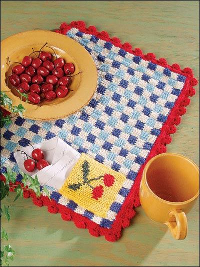 Miss Julias Patterns Free Patterns 20 Placemats More To Knit