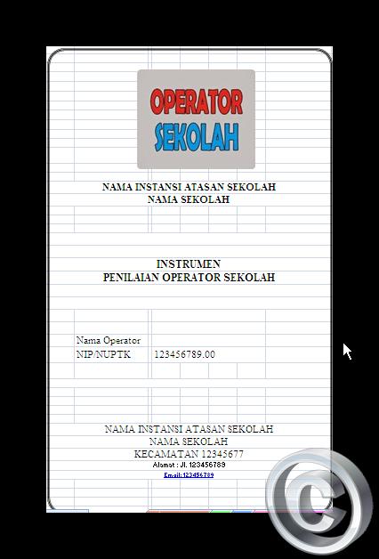 Contoh Format Penilaian Operator Sekolah