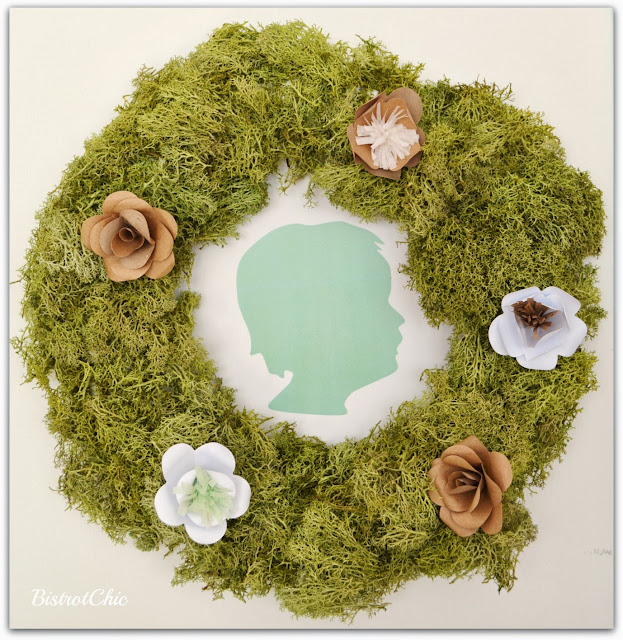Green Rustic Wreath Christening by Bistrotchic