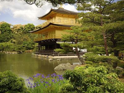 Kyoto Beautiful Natural Kinkaku Ji Temple Japan Hd Desktop Wallpaper