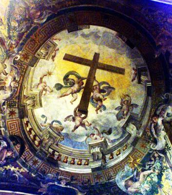Detalle de las pinturas murales en la capilla del Santísimo Sacramento de la Iglesia de Santa María Sopra Minerva. Roma. Foto G. Márquez.