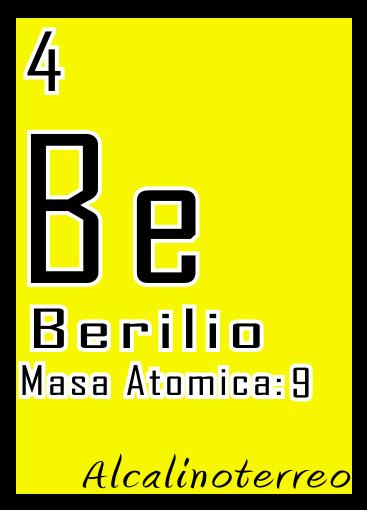 5 20 tabla periodica - Tabla Periodica Berilio