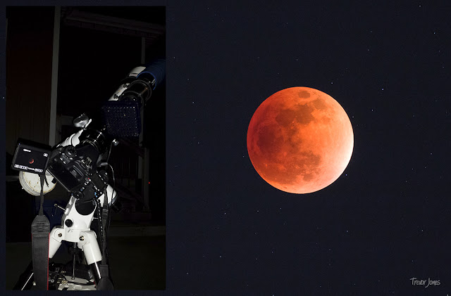A tracking telescope mount was needed to capture the lunar eclipse