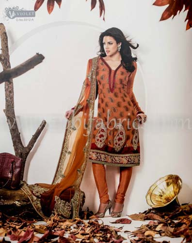 Zobi Fabrics Latest Party Wear Outfits Collection 2013 For girls Women 2 - Zobi Fabrics Latest Party Wear Outfits
