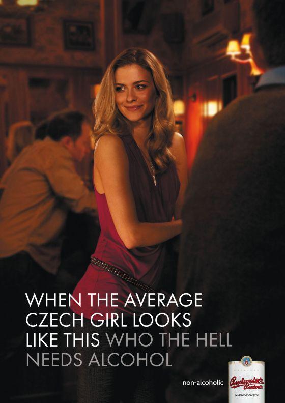 cerveja álcool mulher linda tcheca budweiser propaganda