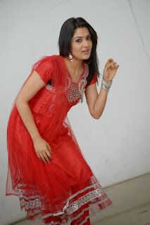 Actress Sakshi Choudhary Latest Picture Gallery in Red Salwar Kameez 0039.JPG