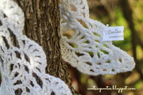 Echarpe em crochet e tricot