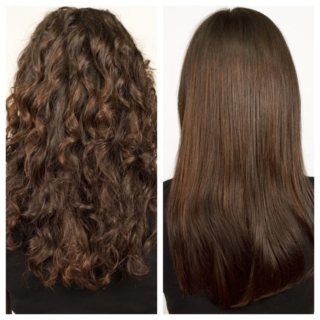 Quitar volumen al pelo rizado