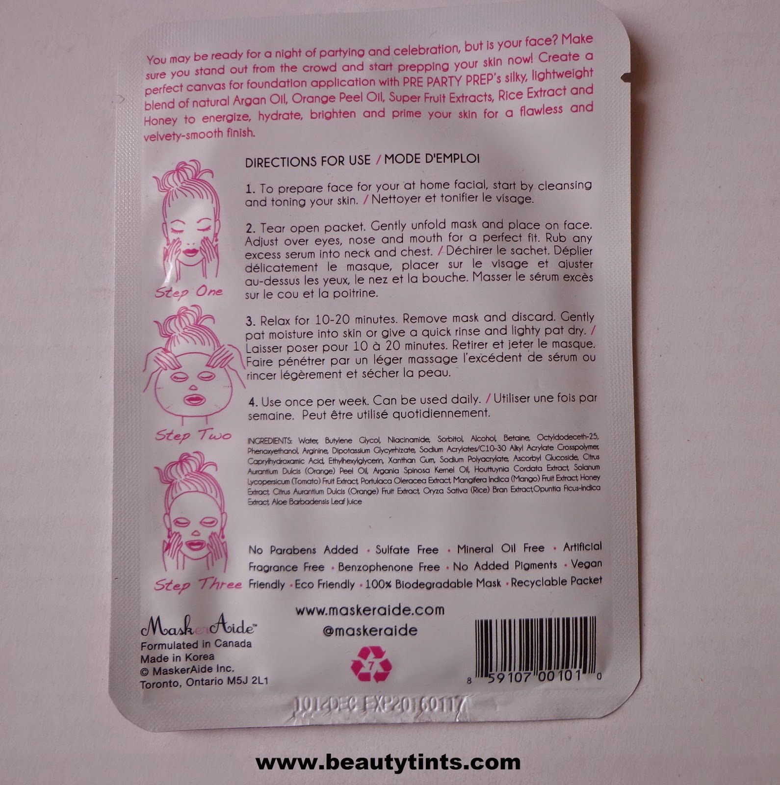 """pussy-perfect""! facial mask directions"