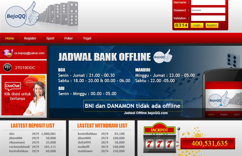 Daftar Situs Judi Domino Poker Online 99 Kiu Kiu Terbaru dan Terpercaya BejoQQ.com