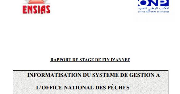 rapport de stage informatisation du systeme de gestion a l