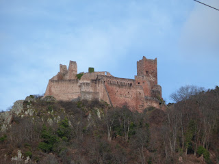 Castle on the hill over Ribeauville, France