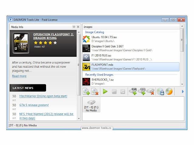 تحميل برنامج قأريء ومحاكي الأقراص الظاهرية المميز مجاناً DAEMON Tools Lite 4.48
