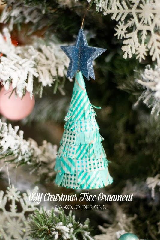 The Party Hop: Handmade Holiday DIY Christmas tree ornament