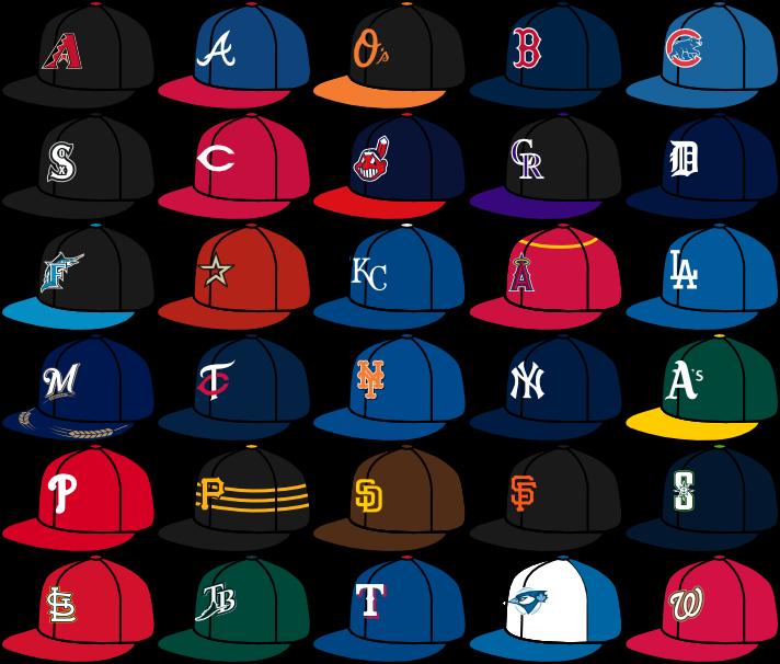 sports logo spot my mlb caps