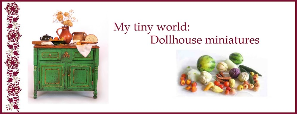 My tiny world: Dollhouse miniatures