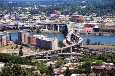 Ciudad de Portland Oregon, USA. Freeway