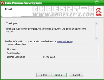 Avira Premium Security Suite With key Until March 2012