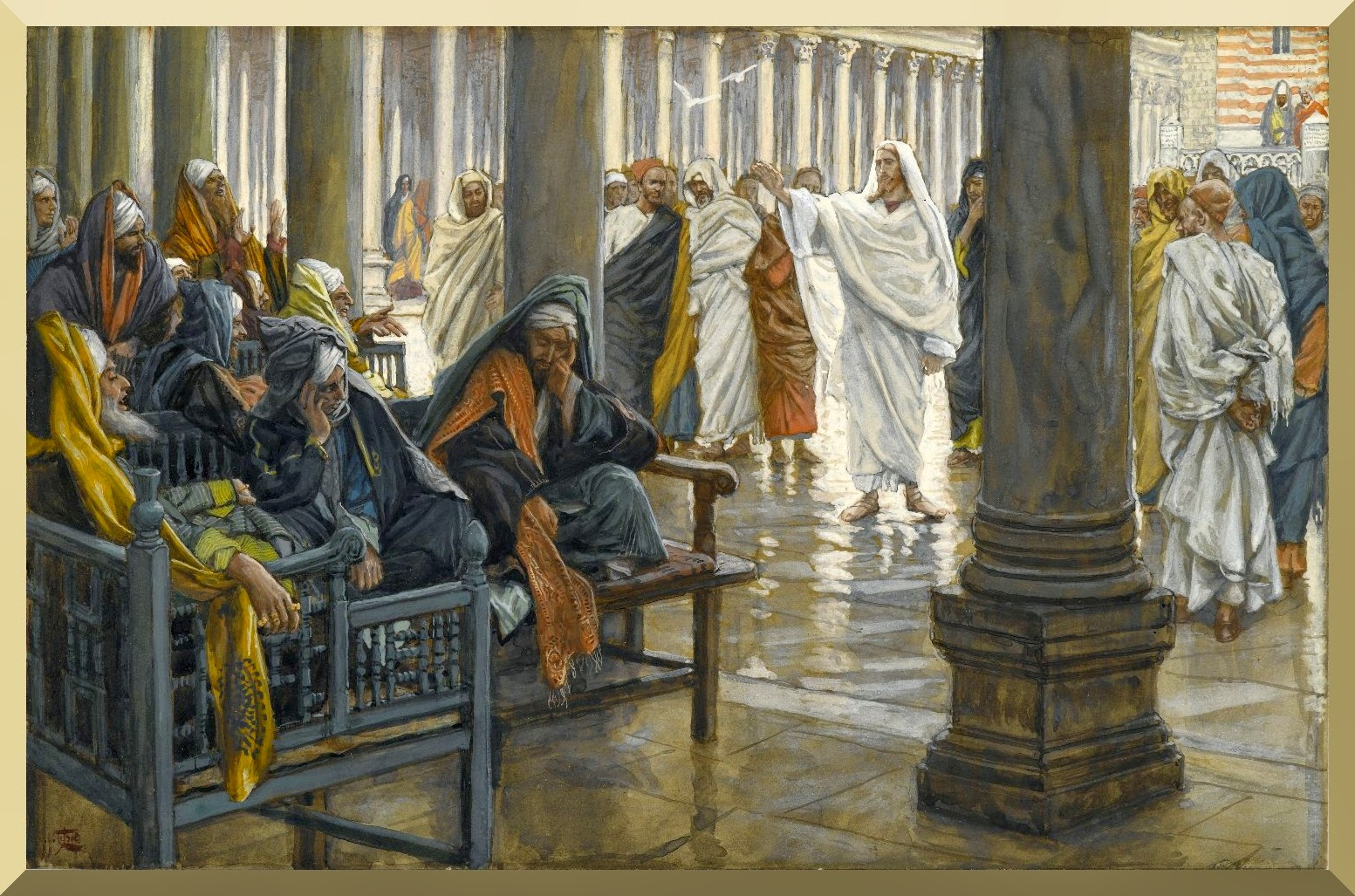 """Woe Unto You, Scribes and Pharisees"" -- by James Tissot"