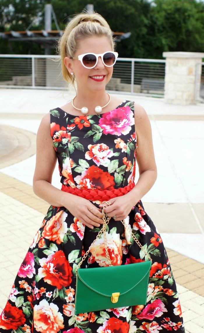 Retro Vintage Floral Dress