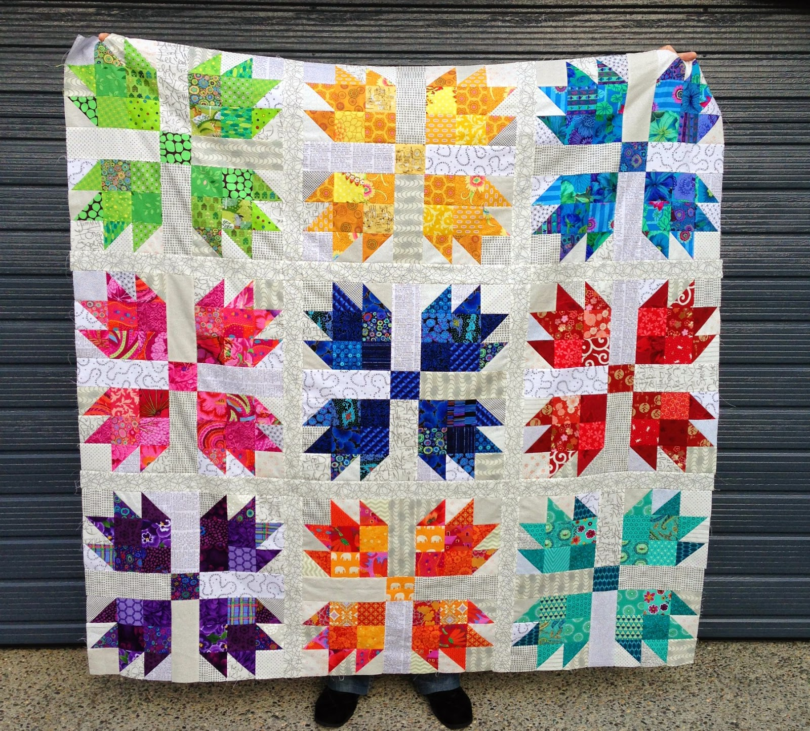 Wendy's quilts and more: Scrappy Bear Paw Quilt : bear claw quilt pattern - Adamdwight.com