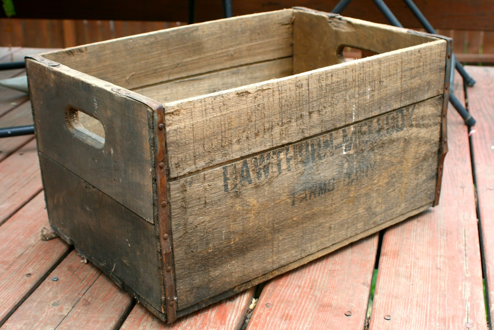 the little backyard farm diy repurpose a vintage wooden box