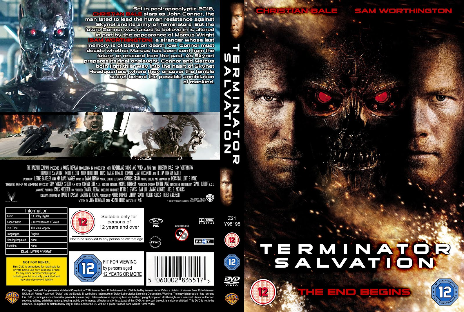 Terminator Salvation Dvd Front Cover