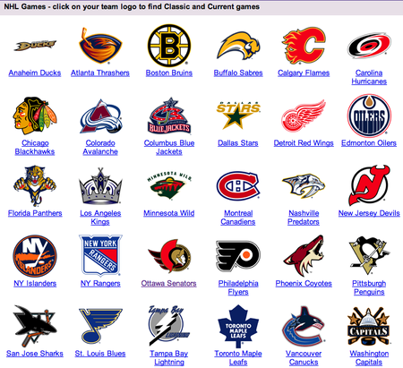 all nhl teams
