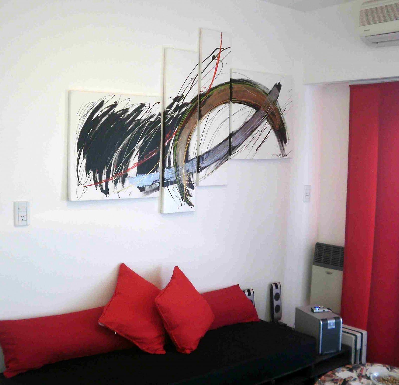 Cuadros minimalistas abstractos modernos al oleo leos en for Cuadros minimalistas modernos