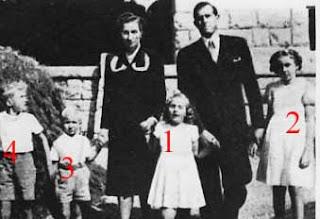 Le comte et la comtesse de Barcelone et leurs enfants