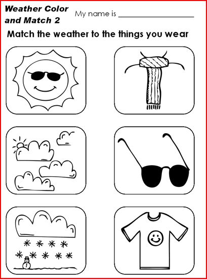 Weather Conditions Coloring Pages