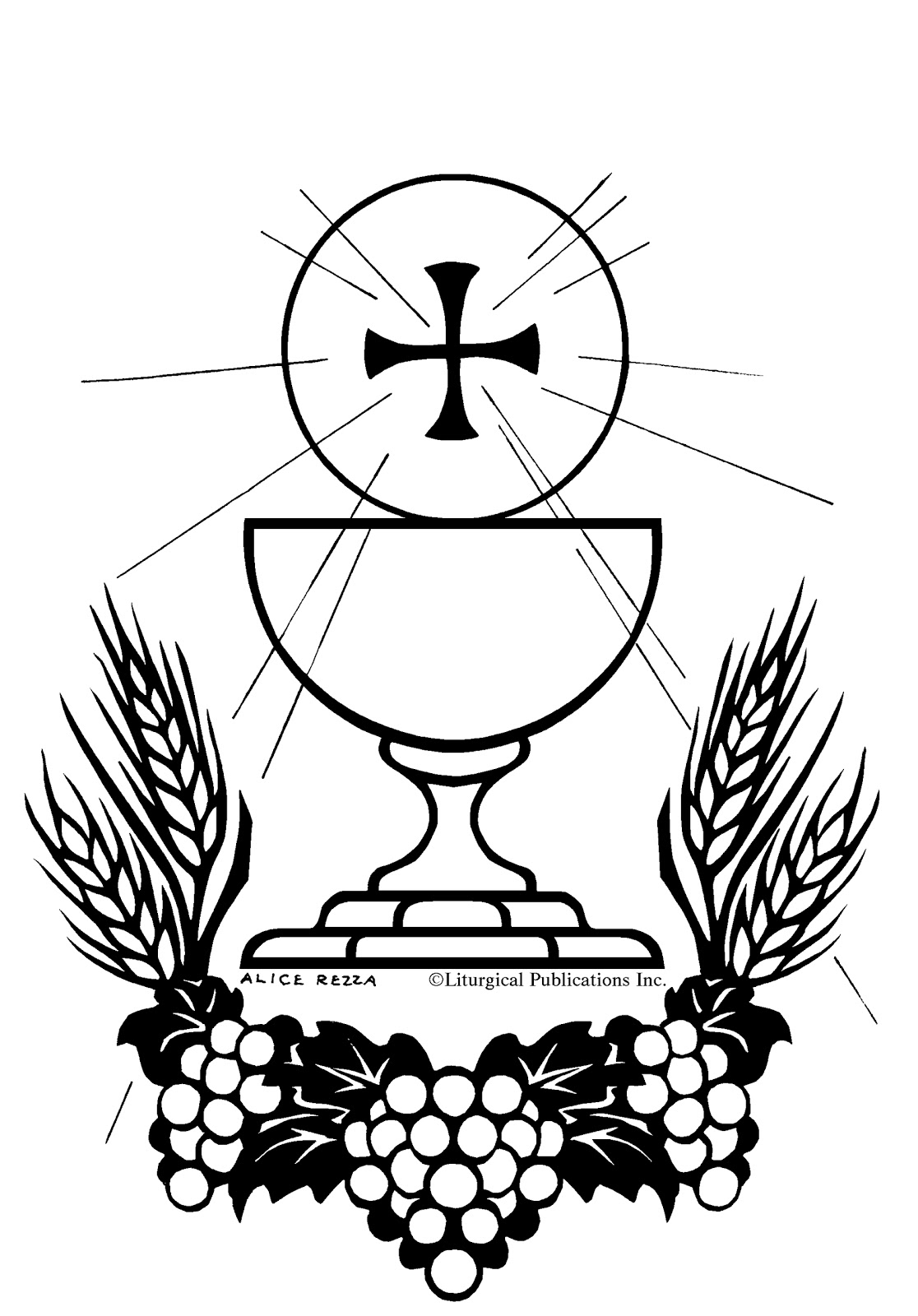 catholic coloring pages mass - photo#30