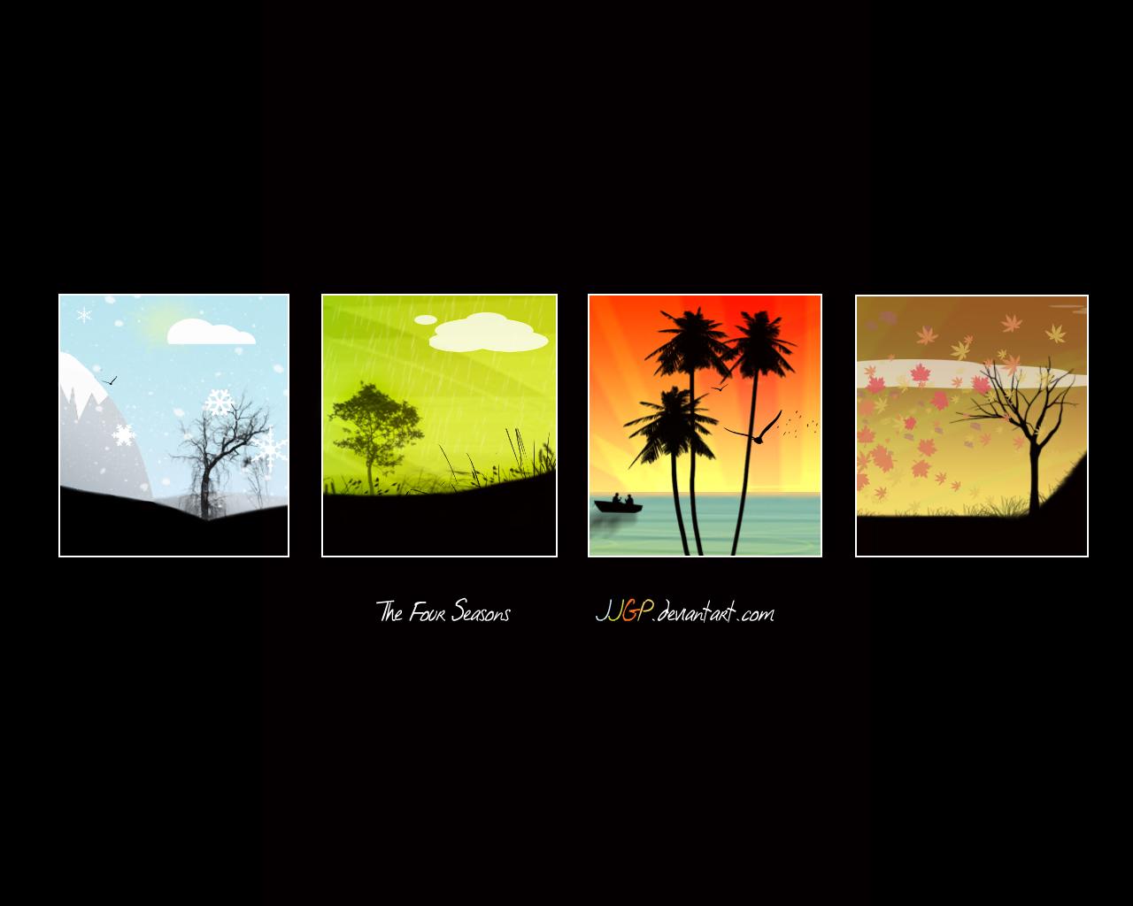 four season change free desktop download wallpapers